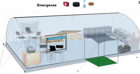 Figura 7 Allestimento tenda rete mobile